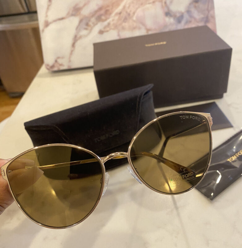 Tom Ford Zeila FT065 28 G Sunglasses rose gold frame