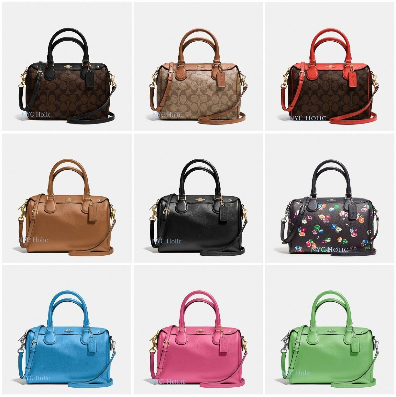 b857b600962b ... inexpensive new coach f36624 mini bennett satchel in crossgrain leather  signature canvas nwt. previous d9a4f
