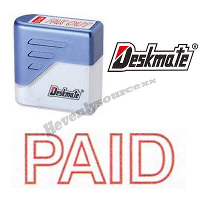 Paid Deskmate Red Pre-inked Self-inking Rubber Stamp Ke-p01
