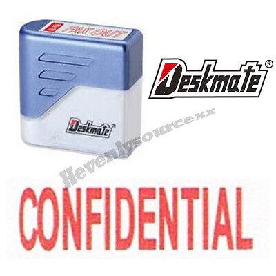 Confidential Deskmate Red Pre-inked Self-inking Rubber Stamp Ke-c11