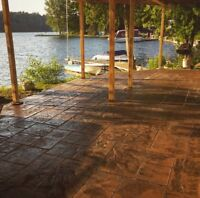 STAMPED CONCRETE! Great prices and professional service!