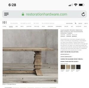 Restoration Hardware Dining Table $1,500