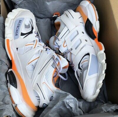 Balenciaga Track Trainer Size 43 White Orange
