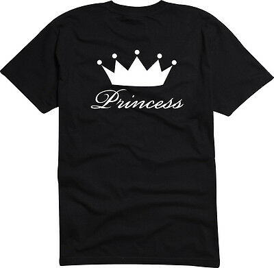 T-Shirt  Herren o. Damen S-XXL-USA-4146 - PRINCESS - Queen Crown Tiara T-shirt Tiara