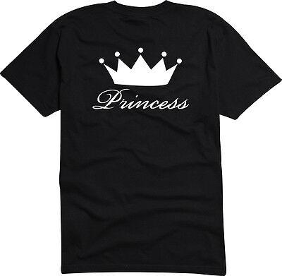 T-Shirt  Herren o. Damen S-XXL-USA-4099 - PRINCESS - Queen Crown Tiara T-shirt Tiara