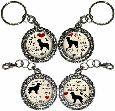Key Ring BOYKIN SPANIEL Dog Key Chain Purse Charm Zipper Pull Handmade #2