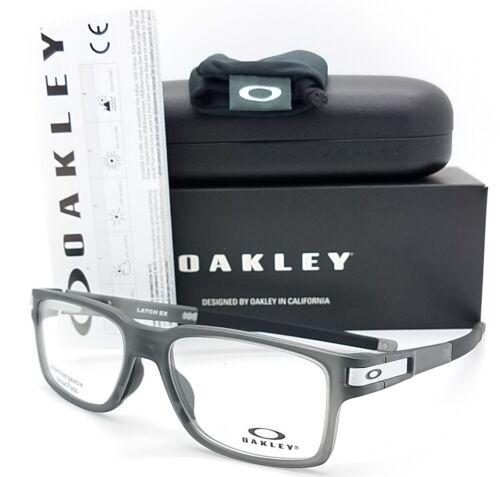 NEW Oakley Latch Ex RX Eyeglasses Frame Satin Grey Smoke Black OX8115-0254 54mm