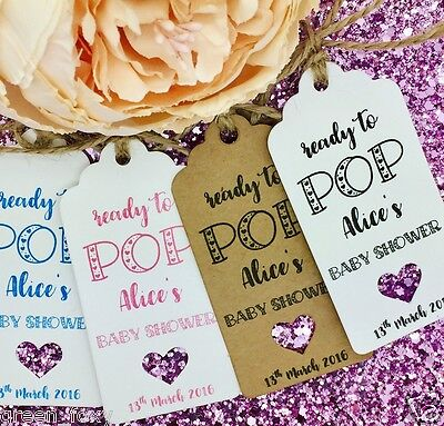 Baby Shower Party Gift Tags, Thanks For Popping By, Bridal Shower, Birthday  - Bridal Shower Gift Tags
