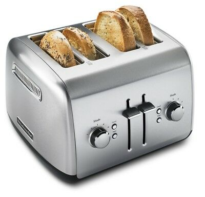 KitchenAid 4-Slice Toaster with Manual High-Lift Lever | Brushed Stainless Steel