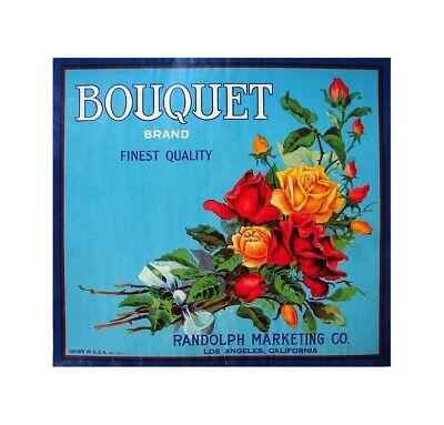 US Seller- Bouquet fruit crate label poster room decor - Fruit Decoration Ideas