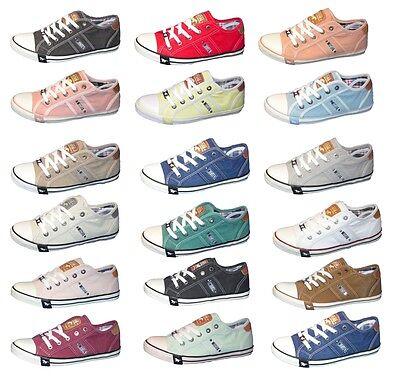 MUSTANG Damen Sneaker Halbschuhe Schnürer Schuhe Canvas Slipper 1099-302