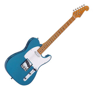 Electric Guitar TC Style in Blue Maple neck and fingerboard with Gig bag by SX