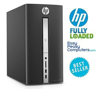 HP Desktop Computer Tower 8GB 1TB Windows 10 WiFi DVD+RW HDMI (FULLY LOADED)