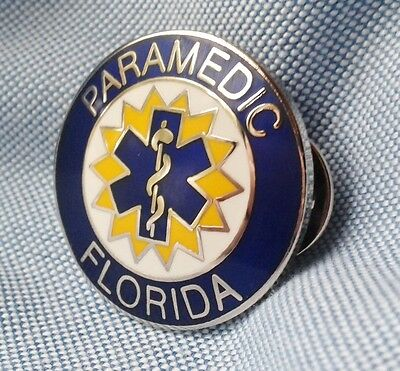 "FLORIDA PARAMEDIC PIN..1"" in size"