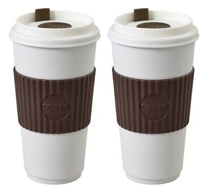 Copco To Go Travel Mug With Spillproof Lid Insulated BPA Free 16 Oz 2 Pack Brown