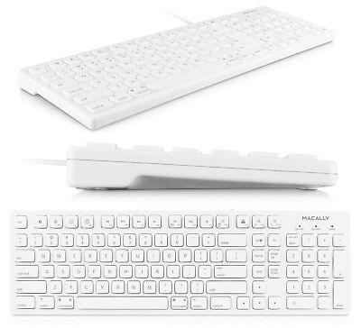 MACALLY MKEYE 103 KEY FULL SIZE USB KEYBOARD FOR MAC/PC DESKTOP/LAPTOP