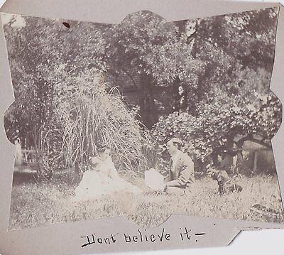 1900 KLAMATH FALLS OREGON GRANTS PASS ASHLAND BIRD DOG PICNIC DAD GIRLS PHOTO