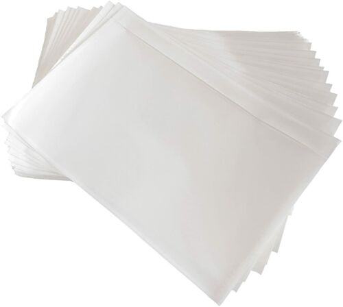 "5.5"" x 7.5"" Packing List Envelopes Clear Adhesive Address Pouch Sleeves"