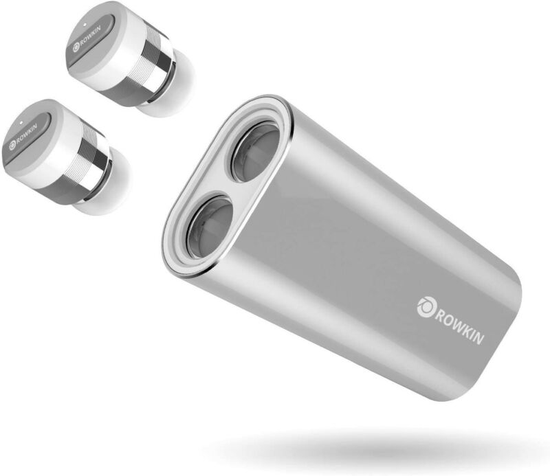 Rowkin Bit Charge Stereo Earbuds w/Charging Case w/mic and noise reduction