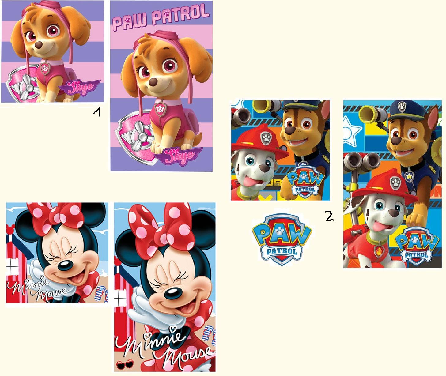 Kinder Handtuch Set Disney Kindergarten Gästehandtuch Waschlappen 30x50 + 30x30