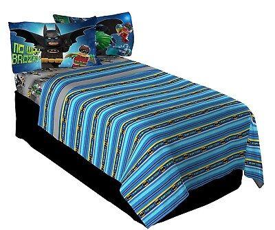 Lego Batman Kids Twin Bedding Sheet 3 Piece Set - Lego Batman Sheets