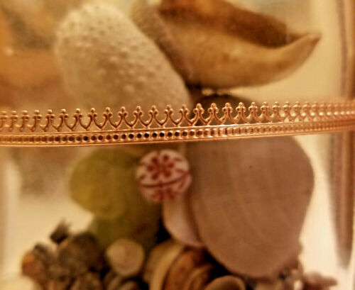 """Adornville™ Copper Gallery Bezel Wire """"Crown"""" Pattern 12 inches, 2 or 5 Feet"""
