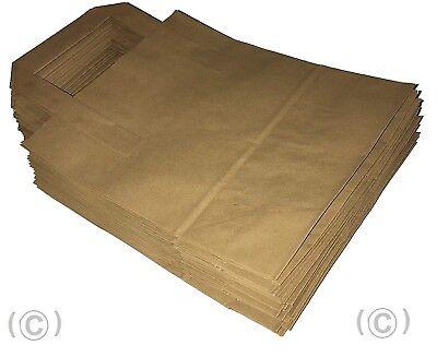 20 Large Brown Kraft Paper Takeaway Carrier Bags SOS Lunch Food 10