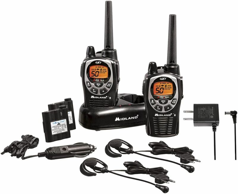 Midland 50 Channel Waterproof GMRS Two-Way Radio - Long Range Walkie Talkie with