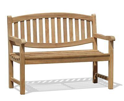 Kennington Wooden 2 Seater Garden Patio Park Bench 1.2m - Sustainable Teak