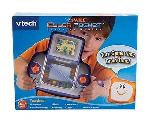 VTECH - VSMILE CYBER POCKET LEARNING SYSTEM w/ ZAYZOO (blue)!