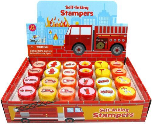 Firetrucks Stampers Stamps Birthday Party Favors Bag Stuffers Pinata Filler 24PC