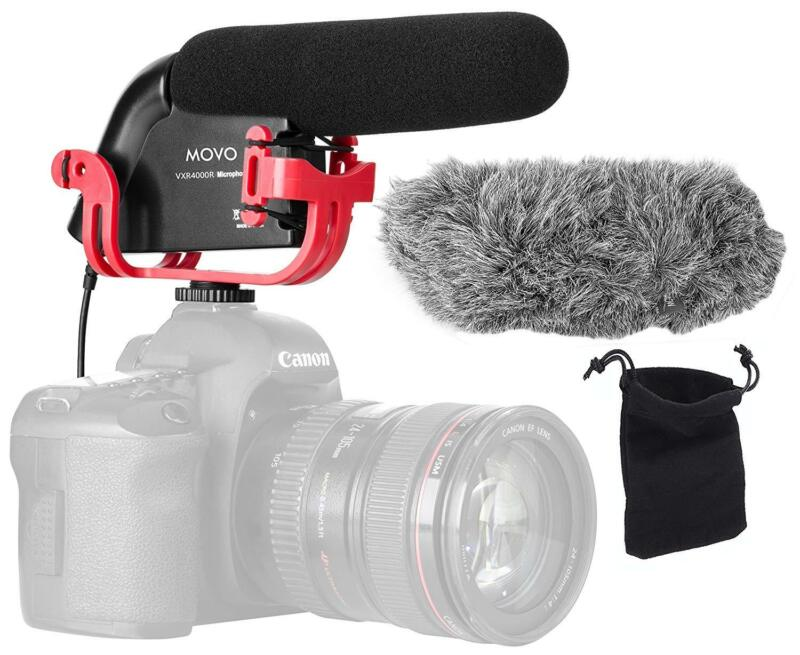 Movo VXR4000R Shotgun Video Microphone for Canon, Nikon, Sony DSLR Camera