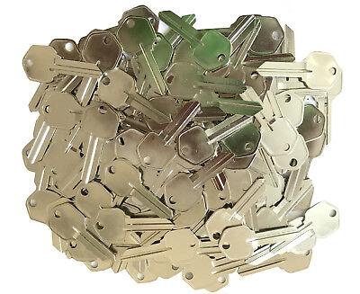 100 Pieces Blank Kwikset 5 Pin Kw1 Keys Locksmith Kits Key Pins