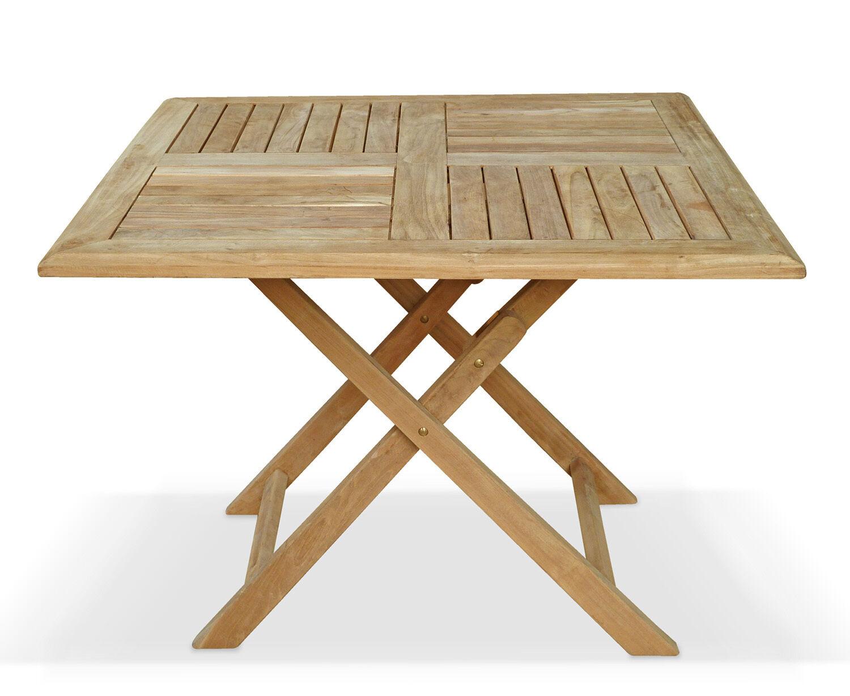 - Lymington Teak Wooden Garden Outdoor Patio Square Folding Table