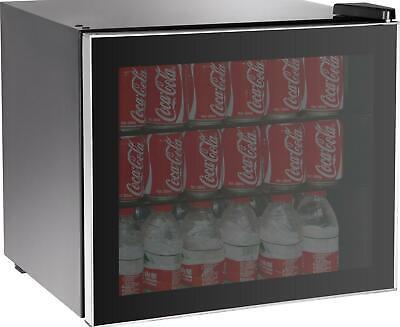 Refrigerator Mini Beer Beverage Wine Fridge Glass Door 70 Can Beverage Cooler Nw