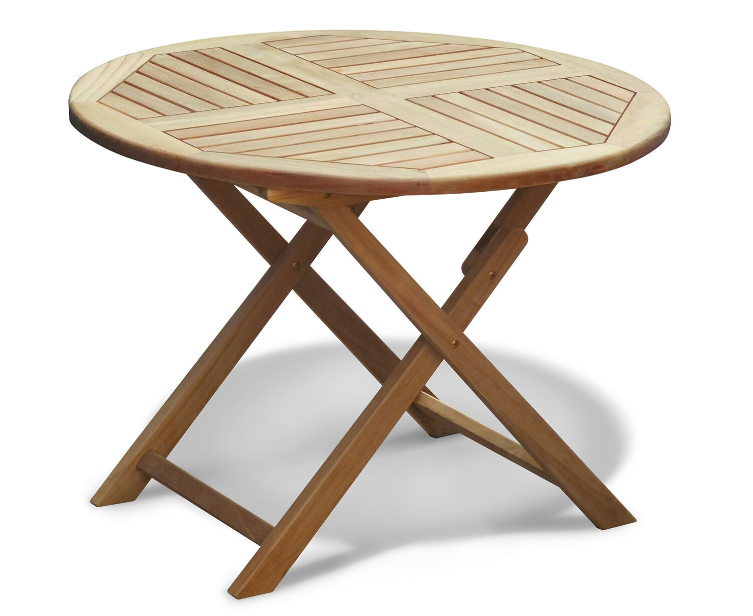 Details about Lymington Teak Round Garden Table 8.8m-8.8m - Outdoor Patio  Wooden Folding Table