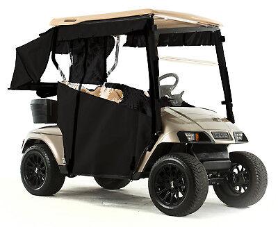 - EZGO TXT Golf Cart PRO-TOURING Sunbrella Track Enclosure - Black