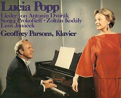 LUCIA POPP LIEDER VON DROVAK PROKOFIEFF KODALY JANACEK GEOFFREY PARSONS LP L8719