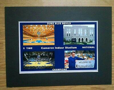 Duke University  Blue Devils Cameron Indoor Stadium matted collage photo Duke Cameron Indoor Stadium