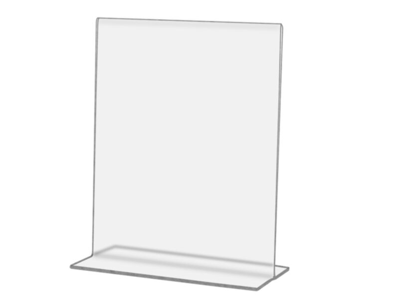 """4""""W x 6""""H Ad Frame Sign Photo Holder Double sided Restaurant Table Tent Acrylic"""