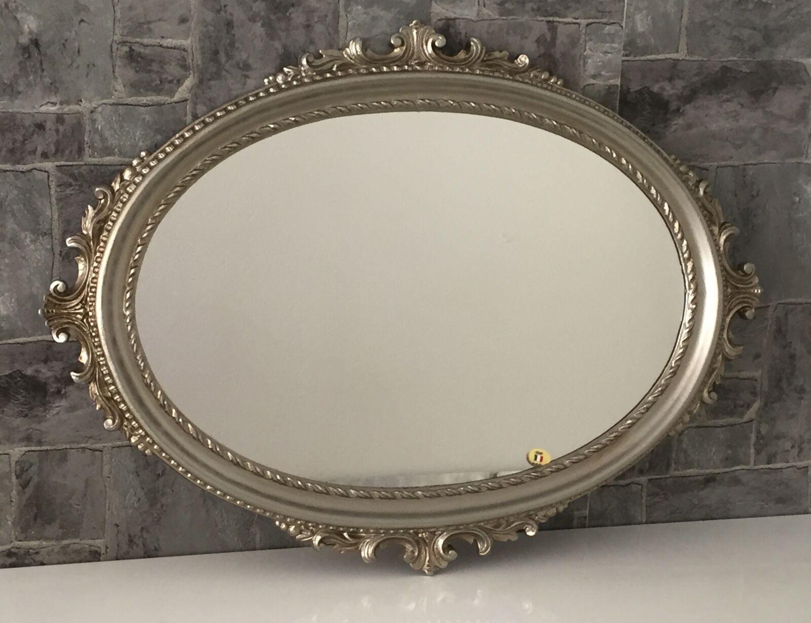 wandspiegel antik silber oval barock badspiegel spiegel. Black Bedroom Furniture Sets. Home Design Ideas