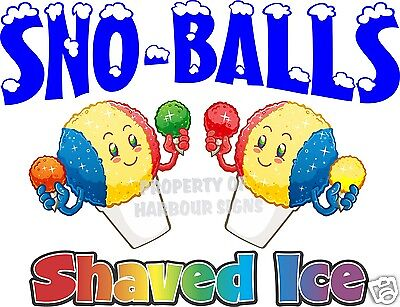 Sno-balls Shaved Ice Decal 24 Cup Snow Cones Concession Cart Trailer Sticker