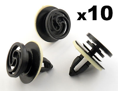 10x Audi A4 Interior Door Card & Trim Panel Mounting / Fastener Clips