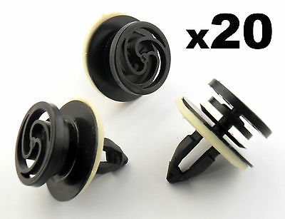 20x Audi A4 Interior Door Card & Trim Panel Mounting / Fastener Clips