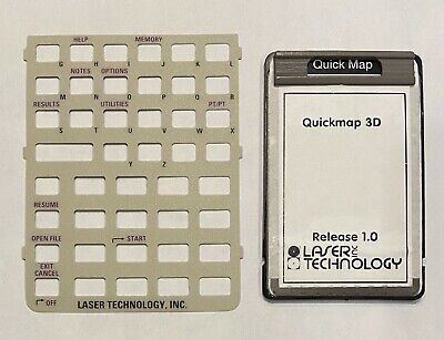 SMI QuickMap card for HP 48GX Calculator w/ Keyboard Overlay Quick Map