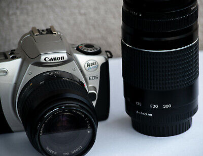 Canon Lenses 35-80mm 75-300mm EF1:4-5.6 III w/filters EOS Rebel 2000 Film Camera