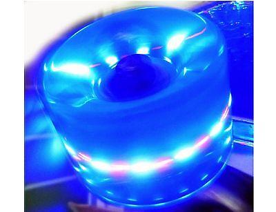 LED Skate Wheels 60X45MM - Clear Blue w/ Multi Light