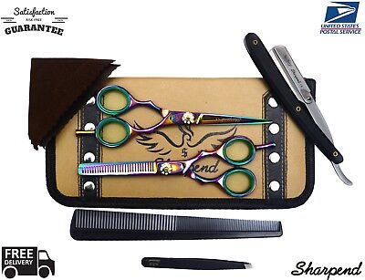 Professional Salon Hair Cutting Thinning Scissors Barber Shears Hairdressing  for sale  Shipping to India