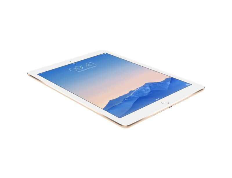 The iPad Air 2, Apple's latest full-size model (shown here in Gold)