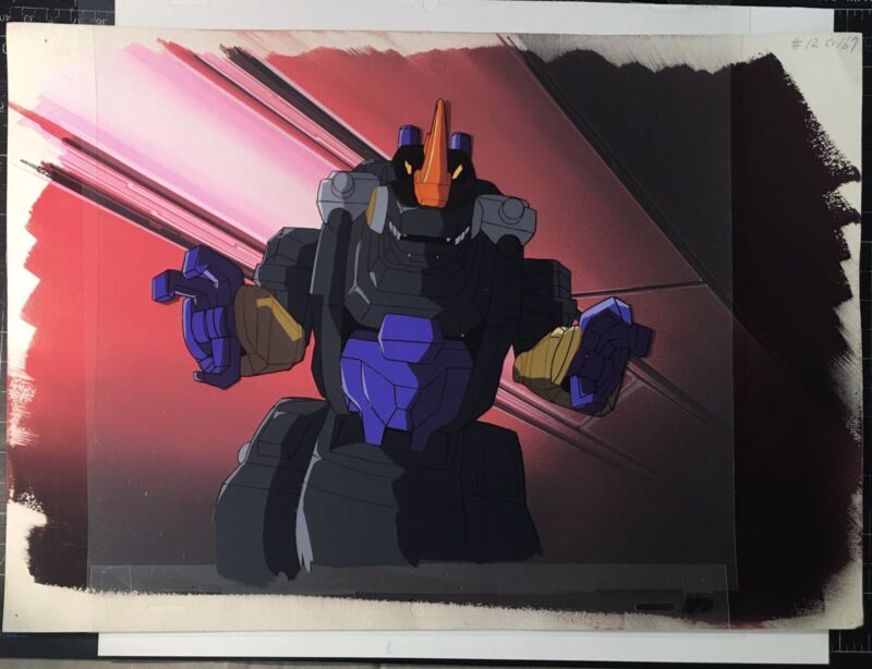 TRANSFORMERS JAPANESE BEAST WARS NEO TRYPTICON ANIMATION CEL & BACKGROUND